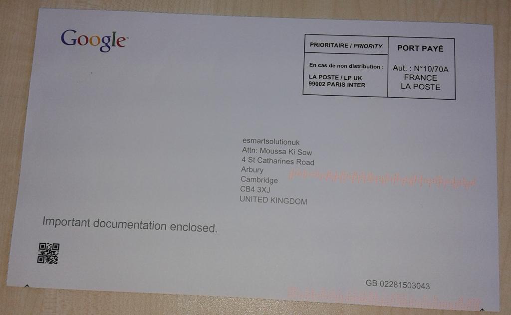 e-smartsolution.co.uk Proven address by Gooogle